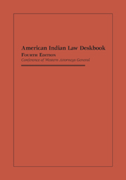 American Indian Law Deskbook, Fourth Edition